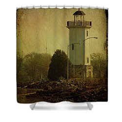 Fond Du Lac Lighthouse Shower Curtain by Joel Witmeyer