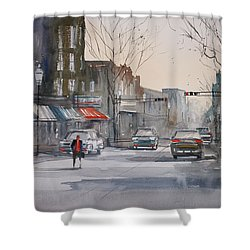 Fond Du Lac Revisited Shower Curtain by Ryan Radke