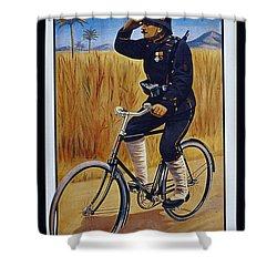 Fongers In Gebruik Bil Nederlandsche En Nederlndsch Indische Leger Vintage Cycle Poster Shower Curtain
