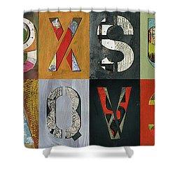 8 Number Letter Grid  Shower Curtain