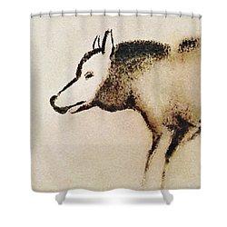 Font De Gaume Wolf Shower Curtain