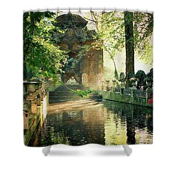 Shower Curtain featuring the photograph Fontaine De Medicis by Kathy Bassett