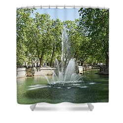 Shower Curtain featuring the photograph Fontaine De Nimes by Scott Carruthers