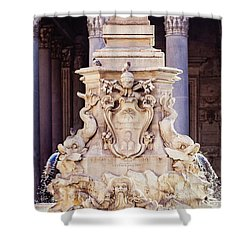 Fontana Del Pantheon - Pantheon Fountain II Shower Curtain