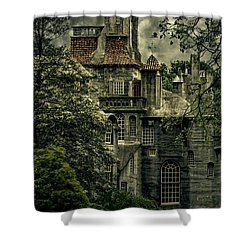 Fonthill With Storm Clouds Shower Curtain