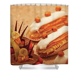 Food - Cake - Little Cakes Shower Curtain by Mike Savad