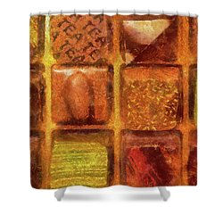 Food - Candy - Excellent Chocolates Shower Curtain by Mike Savad