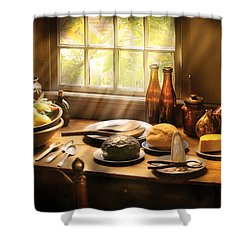 Food - Ready For Guests Shower Curtain by Mike Savad