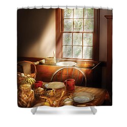 Food - Sunday Brunch Shower Curtain by Mike Savad