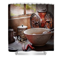 Food - The Morning Chores Shower Curtain by Mike Savad