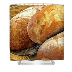 Shower Curtain featuring the photograph Food - Bread - Just Loafing Around by Mike Savad