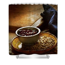 Shower Curtain featuring the photograph Food - Coffee - Freshly Roasted by Mike Savad