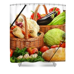 Food Collection Shower Curtain