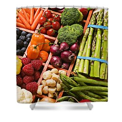 Food Compartments  Shower Curtain by Garry Gay