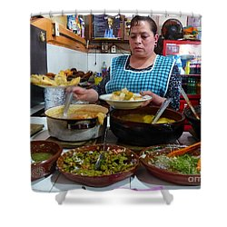 Food Court In Paracho Shower Curtain