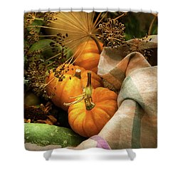 Shower Curtain featuring the photograph Food - Pumpkin - Summer Still Life by Mike Savad