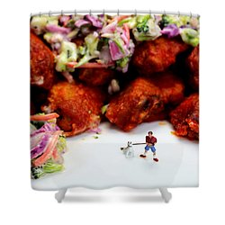 Food Temptation Shower Curtain by Paul Ge