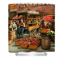 Shower Curtain featuring the photograph Food - Vegetables - Indianapolis Market 1908 by Mike Savad