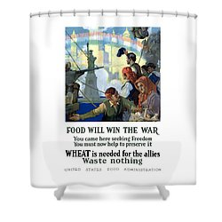 Food Will Win The War Shower Curtain by War Is Hell Store