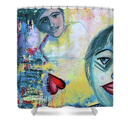Foolish Love Shower Curtain by Donna Blackhall