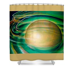 Shower Curtain featuring the painting Fools Gold by Thomas Lupari