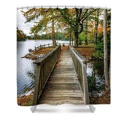 Foot Bridge At Linville Land Harbor Shower Curtain