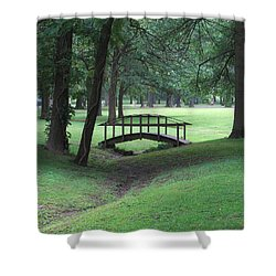 Foot Bridge In The Park Shower Curtain