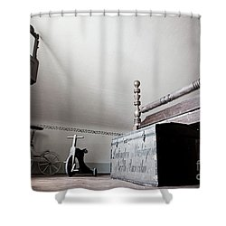 Foot Of The Bed Shower Curtain by Randall Cogle
