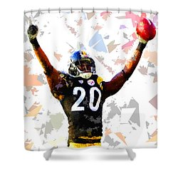 Shower Curtain featuring the painting Football 113 by Movie Poster Prints