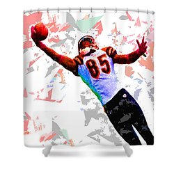 Shower Curtain featuring the painting Football 114 by Movie Poster Prints