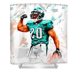 Shower Curtain featuring the painting Football 115 by Movie Poster Prints