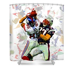 Shower Curtain featuring the painting Football 116 by Movie Poster Prints
