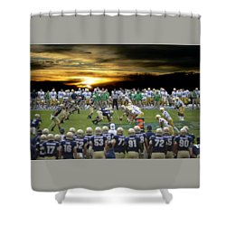 Football Field-notre Dame-navy Shower Curtain