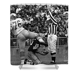 Football Game, 1965 Shower Curtain by Granger