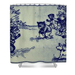 Football In The Park Shower Curtain by Bill Cannon