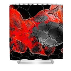 Football Shower Curtain by Manfred Lutzius