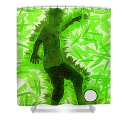 Football Player - Pa Shower Curtain