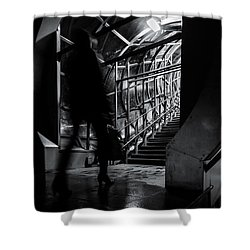 Shower Curtain featuring the photograph Footbridge Blur by John Williams