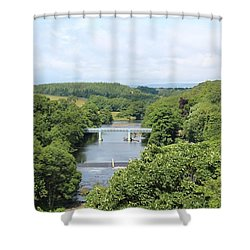 Footbridge Over The River Tees Shower Curtain