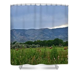 Foothills Of Fort Collins Shower Curtain