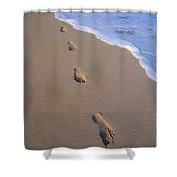 Footprints Shower Curtain by Don King - Printscapes