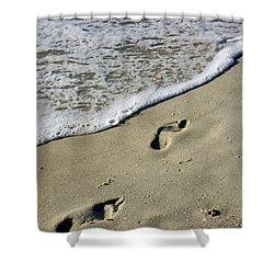 Footprints On The Beach Shower Curtain