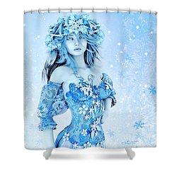 For All Winter Friends Shower Curtain by Jutta Maria Pusl