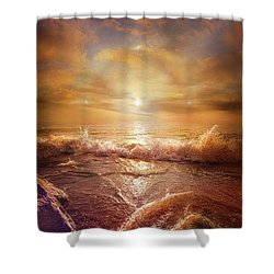 For Everything Give Thanks Shower Curtain