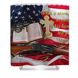 For God, Family And Country Shower Curtain
