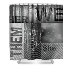 For Her Shower Curtain by Nancy Merkle