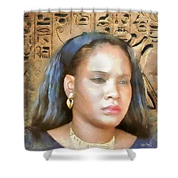 Shower Curtain featuring the painting For Nicole Edwards by Wayne Pascall
