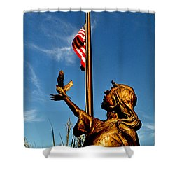 Shower Curtain featuring the photograph For Our Fallen by George Bostian