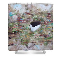 Shower Curtain featuring the painting For Sheila by Judith Rhue