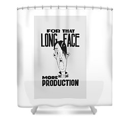 For That Long Face - More Production Shower Curtain by War Is Hell Store